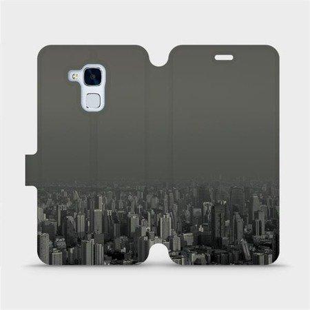 Flipové pouzdro Mobiwear na mobil Honor 7 Lite - V063P Město v šedém hávu