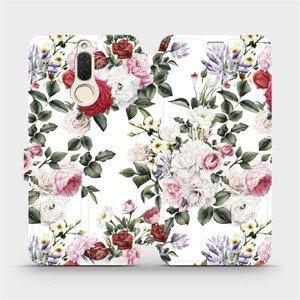 Flipové pouzdro Mobiwear na mobil Huawei Mate 10 Lite - MD01S Růže na bílé