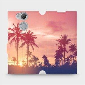 Flipové pouzdro Mobiwear na mobil Sony Xperia XA2 - M134P Palmy a růžová obloha