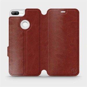 Flipové pouzdro Mobiwear na mobil Honor 9 Lite v provedení C_BRS Brown&Gray s šedým vnitřkem