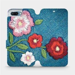 Flipové pouzdro Mobiwear na mobil Honor 10 - MD05P Džínové květy