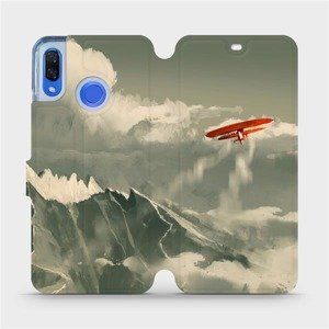 Flipové pouzdro Mobiwear na mobil Huawei Nova 3 - MA03P Oranžové letadlo v horách