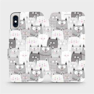 Flipové pouzdro Mobiwear na mobil Apple iPhone XS - M099P Kočičky