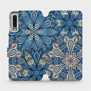 Flipové pouzdro Mobiwear na mobil Samsung Galaxy A7 2018 - V108P Modré mandala květy