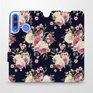 Flipové pouzdro Mobiwear na mobil Honor 20 Lite - V068P Růžičky