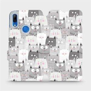 Flipové pouzdro Mobiwear na mobil Huawei P Smart Z - M099P Kočičky