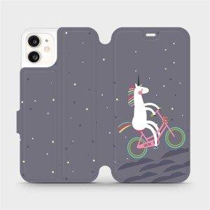 Flipové pouzdro Mobiwear na mobil Apple iPhone 11 - V024P Jednorožec na kole