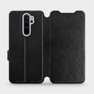 Flipové pouzdro Mobiwear na mobil Xiaomi Redmi Note 8 Pro v provedení C_BLS Black&Gray s šedým vnitřkem