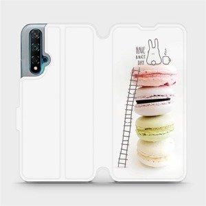 Flipové pouzdro Mobiwear na mobil Huawei Nova 5T - M090P Makronky - have a nice day