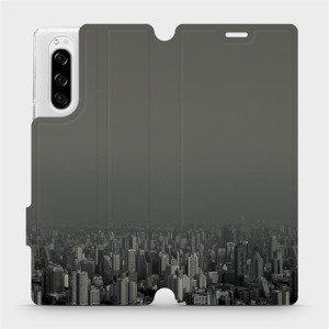 Flipové pouzdro Mobiwear na mobil Sony Xperia 5 - V063P Město v šedém hávu