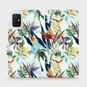 Flipové pouzdro Mobiwear na mobil Samsung Galaxy A51 - M071P Flóra
