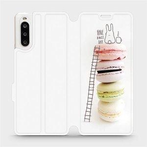 Flipové pouzdro Mobiwear na mobil Sony Xperia 10 II - M090P Makronky - have a nice day