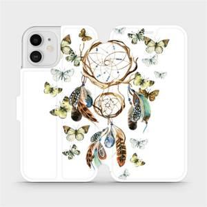 Flipové pouzdro Mobiwear na mobil Apple iPhone 12 - M001P Lapač a motýlci