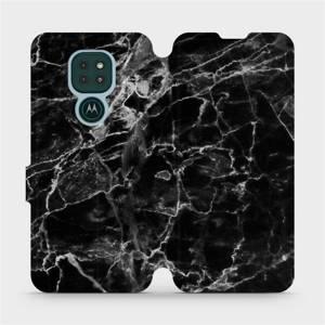 Flipové pouzdro Mobiwear na mobil Motorola Moto G9 Play - V056P Černý mramor