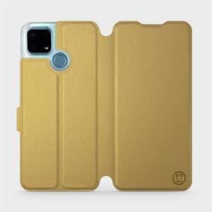 Flip pouzdro Mobiwear na mobil Realme 7i v provedení C_GOS Gold&Gray s šedým vnitřkem