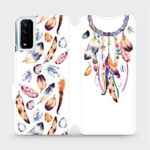 Flipové pouzdro Mobiwear na mobil Vivo Y11S - M003S Lapač a barevná pírka