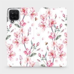 Flipové pouzdro Mobiwear na mobil Samsung Galaxy A12 - M124S Růžové květy