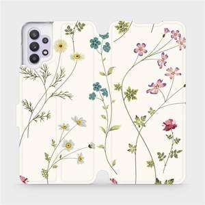 Flipové pouzdro Mobiwear na mobil Samsung Galaxy A32 5G - MD03S Tenké rostlinky s květy