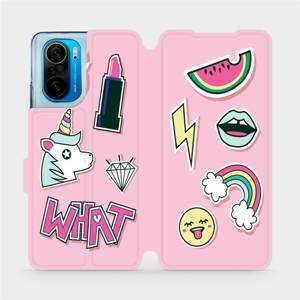 Flipové pouzdro Mobiwear na mobil Xiaomi Mi 11i / Xiaomi Poco F3 - M129S Růžové WHAT
