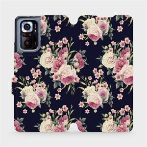Flipové pouzdro Mobiwear na mobil Xiaomi Redmi Note 10 Pro - V068P Růžičky