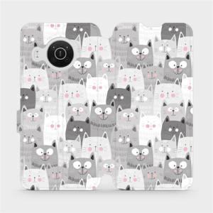 Flip pouzdro Mobiwear na mobil Nokia X10 - M099P Kočičky