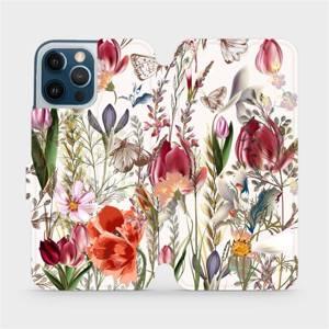 Flip pouzdro Mobiwear na mobil Apple iPhone 12 Pro Max - MP01S Rozkvetlá louka