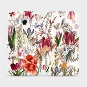 Flip pouzdro Mobiwear na mobil Samsung Galaxy J5 2016 - MP01S Rozkvetlá louka