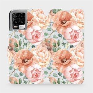 Flip pouzdro Mobiwear na mobil Realme 8 - MP02S Pastelové květy