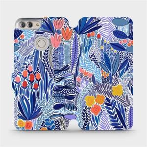 Flip pouzdro Mobiwear na mobil Huawei P Smart - MP03P Modrá květena