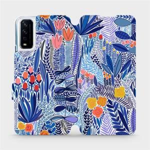 Flip pouzdro Mobiwear na mobil Vivo Y11S - MP03P Modrá květena