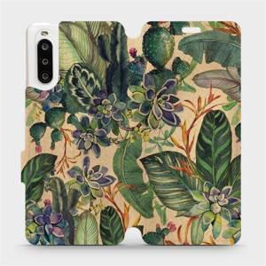 Flip pouzdro Mobiwear na mobil Sony Xperia 10 II - VP05S Sukulenty