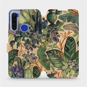 Flip pouzdro Mobiwear na mobil Xiaomi Redmi Note 8T - VP05S Sukulenty