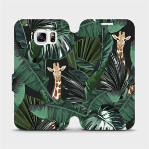Flip pouzdro Mobiwear na mobil Samsung Galaxy S6 - VP06P Žirafky
