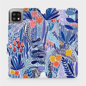 Flip pouzdro Mobiwear na mobil Samsung Galaxy A22 5G - MP03P Modrá květena