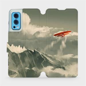 Flip pouzdro Mobiwear na mobil OnePlus Nord 2 5G - MA03P Oranžové letadlo v horách