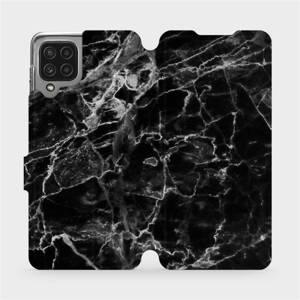 Flip pouzdro Mobiwear na mobil Samsung Galaxy M22 - V056P Černý mramor