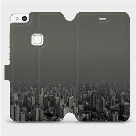 Flipové pouzdro Mobiwear na mobil Huawei P10 Lite - V063P Město v šedém hávu