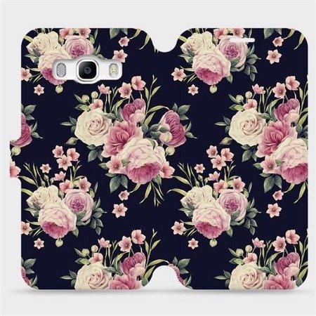 Flipové pouzdro Mobiwear na mobil Samsung Galaxy J5 2016 - V068P Růžičky