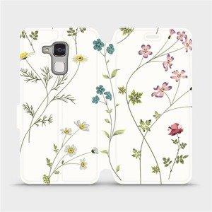 Flipové pouzdro Mobiwear na mobil Honor 7 Lite - MD03S Tenké rostlinky s květy