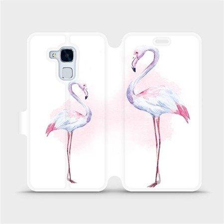 Flipové pouzdro Mobiwear na mobil Honor 7 Lite - M005S Plameňáci