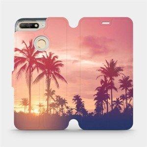 Flipové pouzdro Mobiwear na mobil Huawei Y6 Prime 2018 - M134P Palmy a růžová obloha