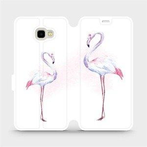 Flipové pouzdro Mobiwear na mobil Samsung Galaxy J4 Plus 2018 - M005S Plameňáci