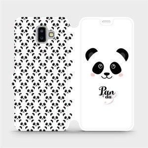 Flipové pouzdro Mobiwear na mobil Samsung Galaxy J6 Plus 2018 - M030P Panda Amálka
