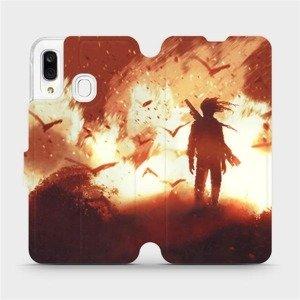 Flipové pouzdro Mobiwear na mobil Samsung Galaxy A40 - MA06S Postava v ohni