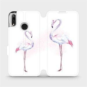 Flipové pouzdro Mobiwear na mobil Huawei Y7 2019 - M005S Plameňáci
