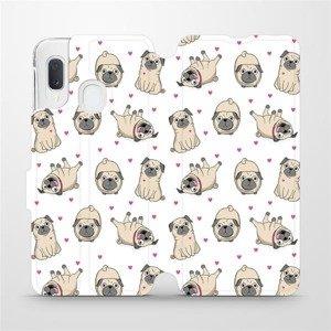 Flipové pouzdro Mobiwear na mobil Samsung Galaxy A20e - M097P Mopsíci