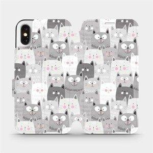 Flipové pouzdro Mobiwear na mobil Apple iPhone X - M099P Kočičky