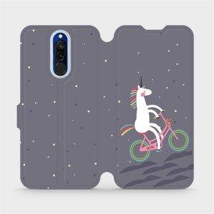 Flipové pouzdro Mobiwear na mobil Xiaomi Redmi 8 - V024P Jednorožec na kole