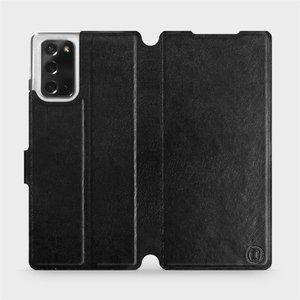 Flipové pouzdro Mobiwear na mobil Samsung Galaxy Note 20 v provedení C_BLS Black&Gray s šedým vnitřkem