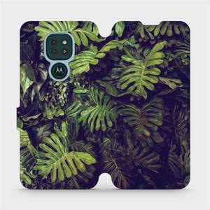 Flipové pouzdro Mobiwear na mobil Motorola Moto G9 Play - V136P Zelená stěna z listů